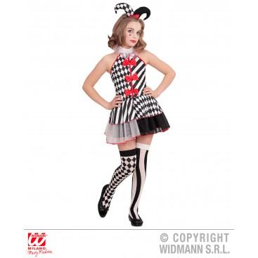 Disfraz Niña Arlequina Talla 5-7 Años