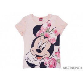 Minnie Mouse Camiseta M/C Rosa ClaroT-8