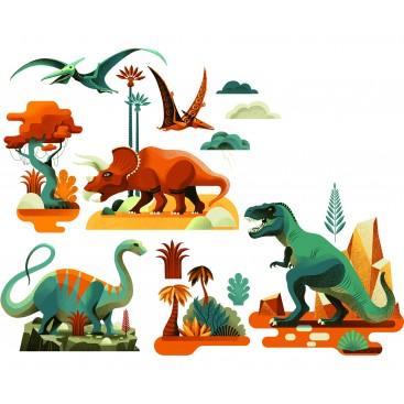 Pegatinas para Ventanas de Dinosaurios