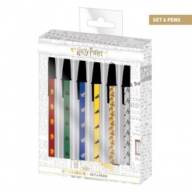 Harry Potter Set de 6 Boligrafos