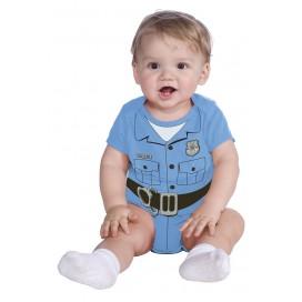 Disfraz Pelele Bebe Policia 6-12 Meses